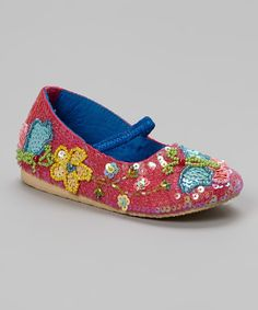 Look at this #zulilyfind! Fairy Dreams Hot Pink Sequin Butterfly Flat by Fairy Dreams #zulilyfinds