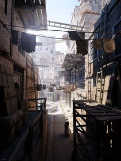 Architecture is the art and science of designing buildings—solid, tangible structures. These images, however, depict views of spaces that have only ever existed in silico—and they're breathtaking. Environment Concept, Environment Design, Fantasy Landscape, Landscape Art, Hawke Dragon Age, Cg Art, Matte Painting, 3d Artist, 3d Max