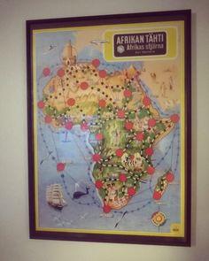Afrikan tähti seinällä