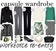 Capsule wardrobe: Career clothes for workforce re-entry - Working mom style advice: Frantic But Fabulous