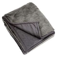 "Faux fur throw with a cotton velvet back.    Product: ThrowConstruction Material: Acrylic,  cotton and velvetColor: Dark grey  Dimensions: 50"" x 60""Cleaning and Care: Dry clean only"