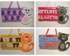 """Targa """"Attenti al Gatto"""" - """"Beware of the Cat"""""""