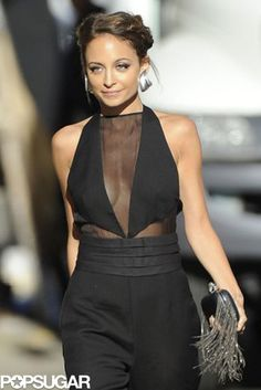 Sheer Beauty: Nicole Richie wore a sexy jumpsuit for an appearance on Jimmy Kimmel Live in LA on Tuesday.