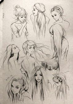 Beautiful hair & expressions.