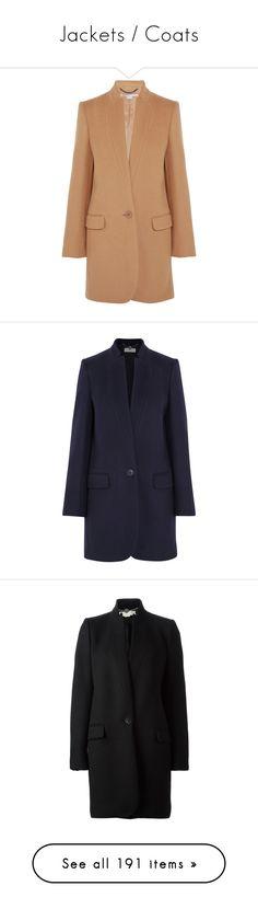 """Jackets / Coats"" by boiteasecrets ❤ liked on Polyvore featuring outerwear, coats, coats & jackets, jackets, fox coat, beige coat, tan coat, melton coat, stella mccartney and navy"