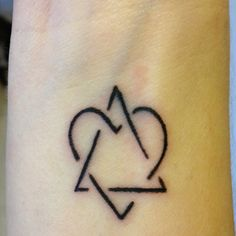 My new tattoo :) adoption symbol representing love between adoptive family, birth family and child.
