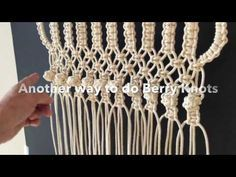 How to do macrame knots - Two ways to make the BERRY KNOT - YouTube