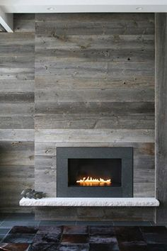 distressed wood fireplace surround - Google Search