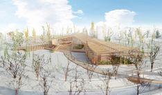 2014年度稲門建築会賞 | 3年次卒業設計 宅地開発により善福寺川沿いの緑地はどんどん減少し現在は川にへばりつくような形で極わずかな面積しか残されていない。この公園の中でも空き地となっている部分に緑地を保全する施設を設計する。建築の構成は、住宅の外皮をめくり家型フレームにして...