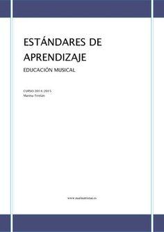 "Cover of ""Estándares de aprendizaje. EDUCACIÓN MUSICAL. LOMCE"" Music Score, Teaching Music, Classroom Organization, Murcia, Musicals, Cards Against Humanity, Author, Teacher, How To Plan"