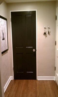 Gray Walls White Trim Black Doors Make My House A