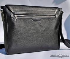 Men's Black City Bag, messeneger bag designed by Christian Leather. Iwc, Watch Model, City Bag, Hand Sewing, Christian, Leather, Bags, Handbags, Sewing By Hand