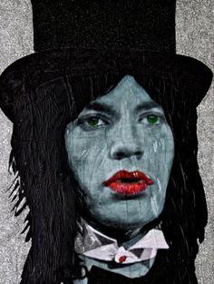"""Rock & Roll Circus""   from The Smoking Series   Artist, Michael Houghton    Sell Art Online   Buy Original Art   Buy Art Online   KiptonART"