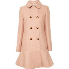 Moschino Cheap and Chic Flared bouclé-wool peacoat