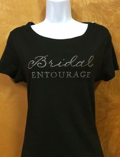 Rhinestone Bling Bridal Entourage Wedding Shirt S M L XL XXL Custom NWT