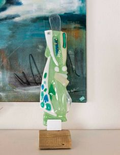 Fused glass - woman about 40 cm high