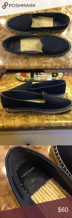 Cole Haan espadrilles Denim navy, size 11. Excellent used condition, worn just a few times. Cole Haan Shoes Flats & Loafers