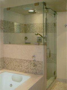 Beverly Hills Condo - contemporary - bathroom - los angeles - Endgrain Architecture - Mr. Steam steam shower