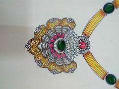 . Stone Jewelry, Diamond Jewelry, Jewelry Design Drawing, Jewelry Illustration, Jewellery Sketches, Pendant Set, Designs To Draw, Embroidery Stitches, Antique Jewelry