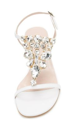 Crystal embellished bridal sandals by kate spade new york #bridal #sparklesandals
