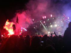Glastonbury - Flags and Flares #Glastonbury #Glasto2014 #JakeBugg