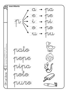 El pequebaúl de AyL: LECTOESCRITURA Teaching Spanish, Teaching Resources, Worksheets For Kids, Activities For Kids, Teaching Cursive Writing, Speech Therapy, Phonics, Language, Lettering
