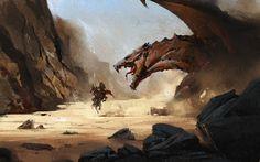 ArtStation - Desert Dragon - gumroad demo, Greg Rutkowski