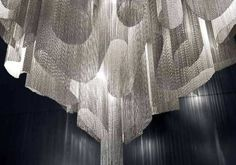 Suspended lamp for dining table - 25 glamorous examples of accent lighting - Decoration Gram Italian Lighting, Luxury Lighting, Modern Lighting, Lighting Design, Accent Lighting, Ceiling Detail, Ceiling Design, Suspended Lighting, Ceiling Installation
