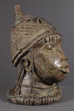 Art africain - Tête Reine Mère Benin Bini Edo