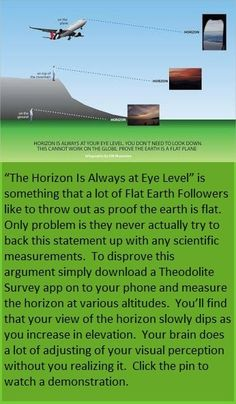 Click the pin to watch a short video. Then follow this metabunk blog to see a deeper explanation -> https://www.metabunk.org/debunk-the-horizon-never-falling-as-proof-of-flat-earth-theory.t4671/