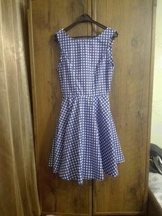 Circle shirt rockabilly gingham dress