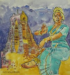 virupaksha temple hampi, karnataka culture painting