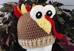 Thomas Turkey Crochet Beanie Pattern free pattern.