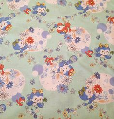 Sweet Birds in Blue 1/2 yard Atsuko Matsuyama by simplysweetfabric, $6.00