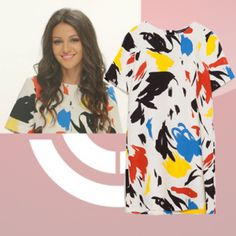 Where did Michelle Keegan get her white dress with paint splash from for Lorraine's High Street Fashion Awards? - Style on Screen