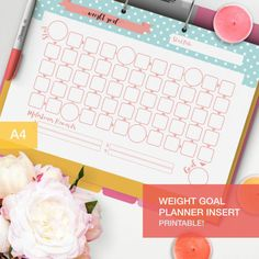 This weight goal planner insert is perfect for you to track your weight loss and a great insert for your fitness planner! You just choose a goal to reach, set some intermediary goals (and some rewards if you reach them if it helps for you!) and then go with increments! ___________________ * THIS PURCHASE IS FOR A INSTANT DIGITAL DOWNLOAD. NO PHYSICAL ITEM WILL BE SENT* ___________________ *****THIS COMES IN DIFFERENT COLORS AND PATTERS TOO***** https://www.etsy.com/listing...