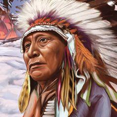 Gran Jefe Sioux Cabeza de Alce, protagonista de la tragamonedas Mystic Dreams