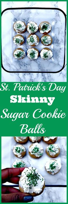 St. Patrick's Day Treats: Healthy, Skinny, Guilt-Free Sugar Cookie Balls