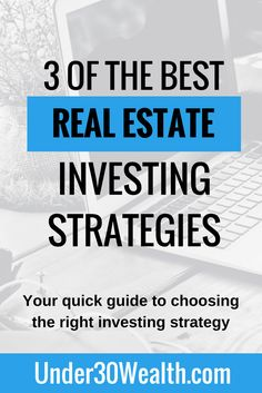 In this quick guide we explore the 3 best real estate investing strategies for beginners to learn about and choose from. Once you pick your strategy, master it and make lots of money from it before you consider taking on multiple strategies. Become great at one thing first! Click to read.