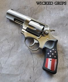 RUGER SP101 ALUMINUM DISTRESSED AMERICAN FLAG GRIPS #grips #ruger