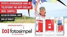 Download de Fotosimpel app. Foto's afdrukken vanaf je telefoon is nog nooit zo gemakkelijk geweest! - Foto Verschoore