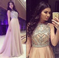 beaded prom dress, long prom dress, beading prom dress, party evening dress, charming prom dress, PD0015