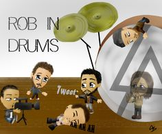 Rob's birthday picture #Birthday #LP #Linkin #Park #LinkinPark #Drums #Rob #Burdom #Mike #Shinoda #Chester #Bennington