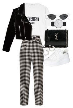 """""""Untitled #23208"""" by florencia95 ❤ liked on Polyvore featuring Givenchy, Marc Jacobs, Petar Petrov, Yves Saint Laurent, Alexander McQueen, Le Specs and The Kooples"""