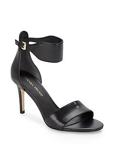 Gelana Leather High-Heel Sandals