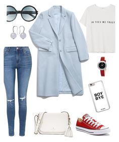 """""""Bye Bye Boy."""" by schenonek ❤ liked on Polyvore featuring Kate Spade, Topshop, Converse, Fendi, Skagen, MANGO and Tom Ford"""
