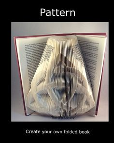 Celtic Knot Design Book folding PATTERNS to Create your own folded book art