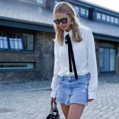 look-pernille-teisbaek-saia-jeans-camisa