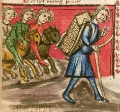 Jansen Enikel, Jans: Weltchronik Bayern-Österreich, 1. Hälfte 15. Jh. Cgm 250 Folio 446