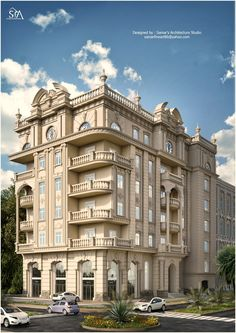 A 96 pieces jigsaw puzzle from Jigidi Hotel Design Architecture, Office Building Architecture, Home Building Design, Classic Architecture, Facade Architecture, Facade Design, Villa Design, Exterior Design, Classic House Exterior